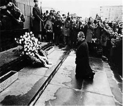 German Chancellor Willy Brandt begging Jewish people for forgiveness